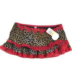 Jezebel Women's Leopard Print Lingerie Skirt